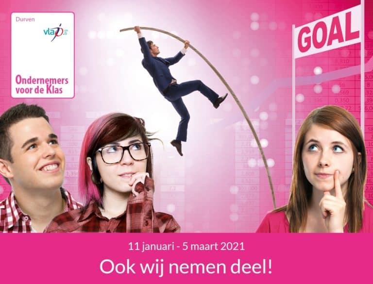 GroenDruk neemt deel aan 'Vlajo Ondernemers voor de Klas', het grootste onderwijsproject tussen scholen en bedrijven in Vlaanderen, georganiseerd door Vlaamse Jonge Ondernemingen vzw (Vlajo), in samenwerking met structurele partners Pulse Foundation, ETION, VKW Limburg en de projectpartners.