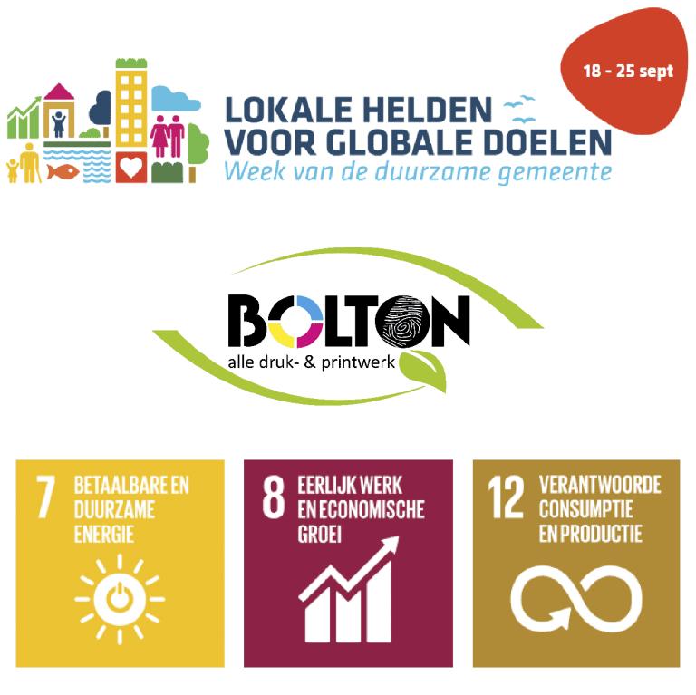 BOLTON bvba werkt aan 3 SDG'S (Duurzame Ontwikkelingsdoelstellingen of Sustainable Development Goals)
