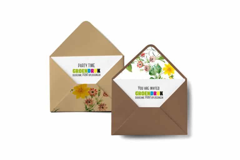 GroenDruk - drukwerk uitnodigingen