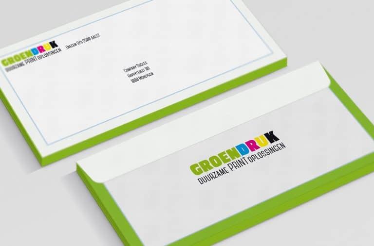 Groendruk - drukwerk enveloppen in Aalst
