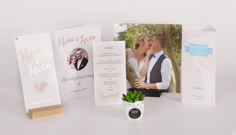 Het gedroomde drukwerk voor het huwelijk van je dromen