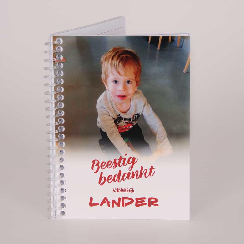 Geschenk Met Een Unieke Bedrukking Voor Juf Of Meester - notitieboekje